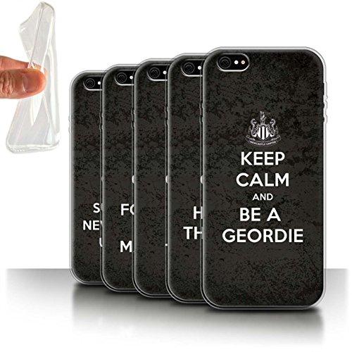 Officiel Newcastle United FC Coque / Etui Gel TPU pour Apple iPhone 6S / Pack 7pcs Design / NUFC Keep Calm Collection Pack 7pcs
