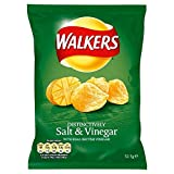 Walkers Crisps - Salt & Vinegar (32,5 g) - Packung mit 6