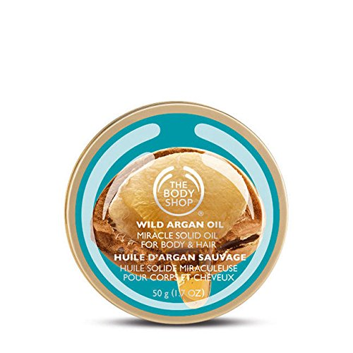 Le Body Shop Huile d'argan sauvage Huile essentielle de miracle Huile de corps pour corps et cheveux 50g / The Body Shop Wild Argan Oil Miracle Solid Oil FOR BODY & HAIR 50g