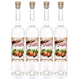 Nuss Kuss® 0,7 Liter, 4 Flaschen Haselnuss-Schnaps, Liebliche Spezialität von Kultbrand aus Nürnberg, Sensationelle Qualität, Direkt vom Hersteller, Die Königin unter den Prinzessinnen