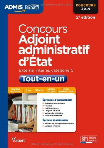 Concours Adjoint administratif d'Etat - Tout-en-un - Catégorie C - Concours 2014 par Dominique Herbaut, Pierre-Brice Lebrun