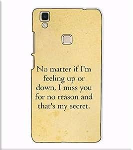 Fuson Designer Back Case Cover for Vivo V3 Max (No matter if I am )