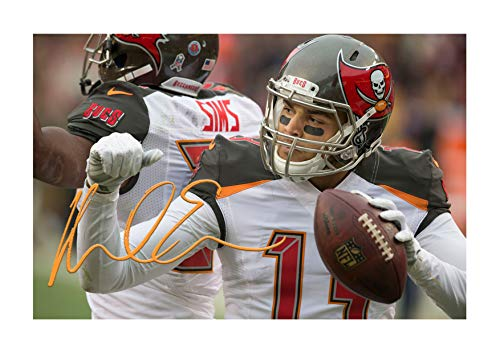 Engravia Digital Mike Evans Tampa Bay Buccaneers (3) Poster, signiert, Reproduktion, Foto, A4 Unframed