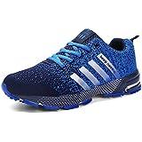 Sollomensi Zapatos para Correr en Montaña y Asfalto Aire Libre y Deportes Zapatillas de Running Padel para Hombre