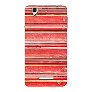 Impressive Red Woodlock Print Back Case Cover for YU Yureka Plus