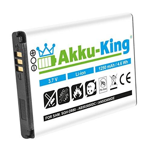 Akku-King Akku für Samsung SGH-D880, D888, D980, W599 - ersetzt AB553850DE, AB553850DU Li-Ion