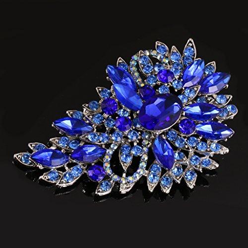 Broche Elegante De La Flor Del Diamante De...
