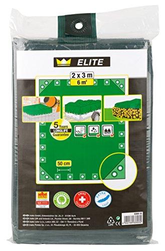 Preisvergleich Produktbild Ösenplane ELITE, 2 x 3 m, grün, 5 Jahre Garantie Malerqualität
