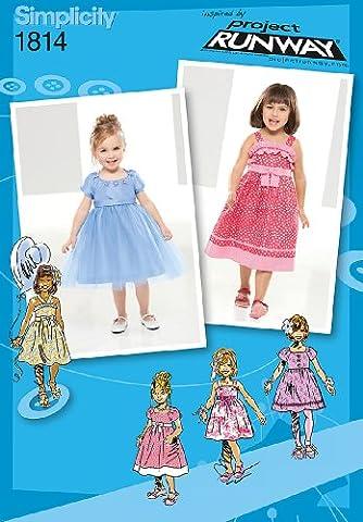 Simplicity Pattern 1814 Project Runway Collection Patrons pour robe pour enfant Taille 4-5-6-7-8