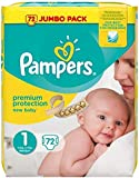 Pampers New Baby Nappies Size 1 Jumbo Pack 72 Case of 2 Total 144 Nappies_Sapphire Fashions