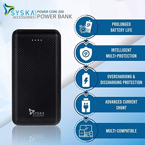 Syska Power Core 200 20000 mAh Lithium Polymer Black Image 5
