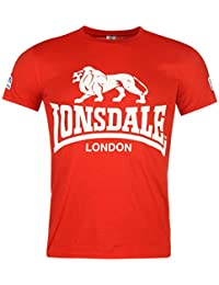 Lonsdale Hommes Walk In T-Shirt Tee Top Haut Col Rond Manche Courte Imprime