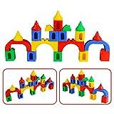 3D Plastico Bloques Construcción Juguetes Geometricos Puzzles Rompecabezas Juegos Educativos de Construccion para Regalo Niños Infantiles Niñas 3 4 5 Años, 84 piezas