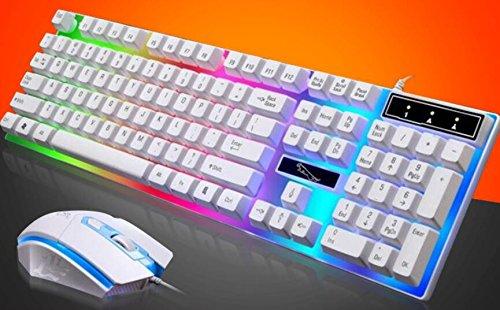 YLLY Wired USB-Light Tastatur und Maus Set Creative Computer Tastatur mit Hintergrundbeleuchtung und Maus Set