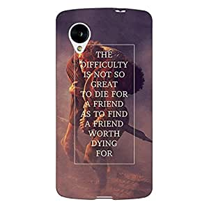 Jugaaduu LOTR Hobbit Back Cover Case For Google Nexus 5