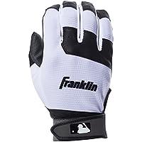Franklin Deportes Juventud Guantes de bateo para Flex, Hombre, Color Negro/Blanco, tamaño Medium