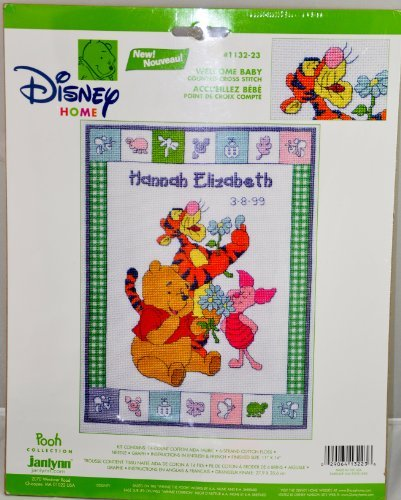 Welcome Baby Pooh counted Cross Stitch Kit - 11 x 14 by Winnie Pooh Disney home (Pooh Baby-kreuzstich The Winnie)