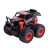 Bescita Militär RC Truck Armee Mini-Fahrzeug Ziehen Autos mit Großen Reifen Rad Kreative Geschenke für Kinder (Rot)