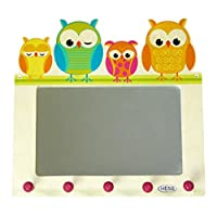 Hess 30502 Wooden Mirror/Wardrobe Baby Toy, Owls, Multi-Color