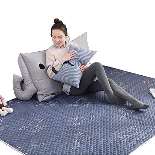 Teppichauflagen Tatami Baby Krabbeldecke Blaue Baumwolle einfarbig Haushalt Tatami Crawler Pad...