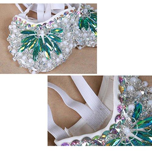 Byjia Frauen Bauch Ballett Tanz Schuhe Kostüm Geschenk Für Big Party Weihnachten Bohrer Praxis Einlegesohle Green