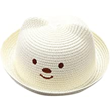e703a6cb02a5c QUICKLYLY Sombrero de Paja Playa Respirable Sombrero de Sol de Ocio al  Deporte Aire Libre Verano