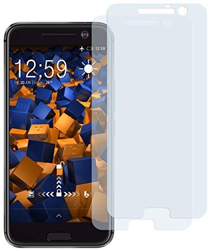 mumbi Schutzfolie kompatibel mit HTC 10 Folie klar, Displayschutzfolie (2X)