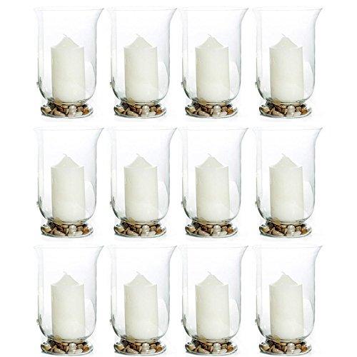 12 Stück Windlichter aus Glas, H 11 cm