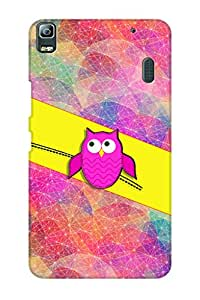 AMAN Owl Up 3D Back Cover for Lenovo K3 Note