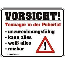 """Vorsicht Kunststoff-Postkarte /""""Verbotene Schilder Teenager in der Pubertät/"""""""