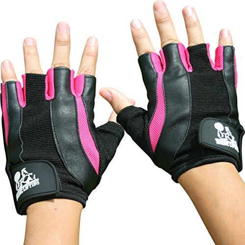 Gewichtheben Handschuhe für Frauen–Sport & Fitness, Gym und Kreuz Training–von Nordic Heben–1Jahr Garantie, rose
