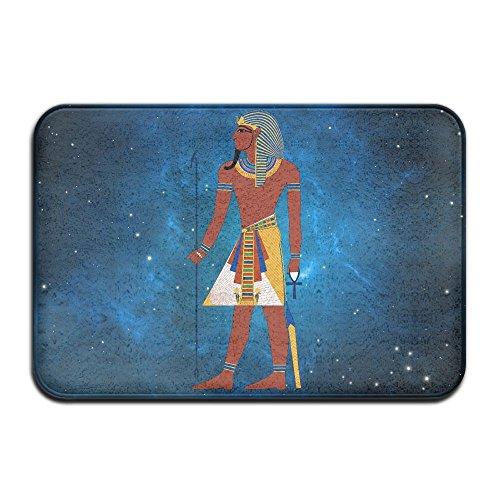 Faraón egipcio suave y antideslizante alfombra de baño Coral Fleece zona alfombra alfombrilla de puerta entrada alfombra alfombrillas