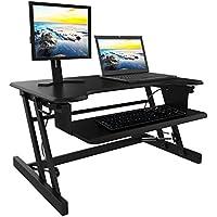 ... Höhenverstellbarer Sitz Steh Schreibtisch Klappbar Tischaufsatz  Laptop Ständer Schreibtisch, Abnehmbare Tastaturablage, Steharbeitsplatz  Computertisch, ...