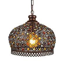 EGLO Pendant Light, Steel, 60 W, Copper-Coloured Antique