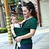 G-Hawk Babytrage Verstellbare Stillen Abdeckung Baumwolle Sling Baby Carrier für Kleinkinder auf, Weich und Komfortabel (grün)
