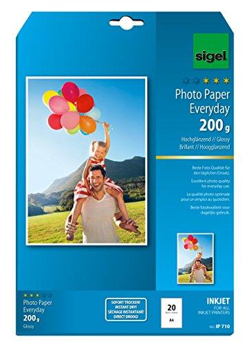 sigel-ip710-papier-photo-everyday-jet-dencre-21-x-297-cm-200-g-m-20-feuilles