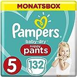 Pampers Baby Dry Pants Windeln Gr.5 (11-18 kg), Monatsbox, 1er Pack (1 x 132 Stück)