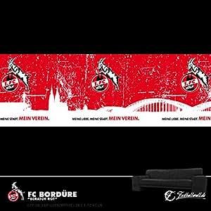 1. FC Köln FC Bordüre Tapete SCRATCH ROT: Amazon.de: Sport