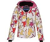 Bergson Kinder Skijacke RICKY, white/red/pink allover [6045], 98 - Kinder
