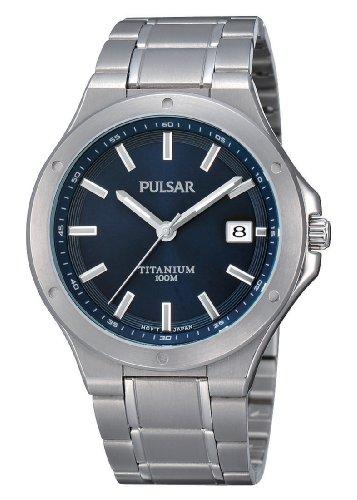 Pulsar Uhren PS9123X1 - Orologio da polso uomo, titanio, colore: argento