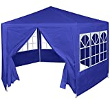 vidaXL Festzelt mit 6 Seitenwänden 2x2m Bierzelt Partyzelt Gartenpavillon