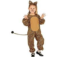 Disfraz Infantil Leopardo - 105 - 110 cm, 3 - 4 años   Mono Niño Gato Salvaje   Traje Leo con Orejas   Jumpsuite Gatita Montés