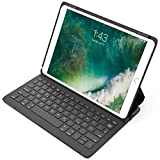 "Inateck Ultraleichte Bluetooth Tastatur für 10,5"" iPad Pro, Schutzhülle mit Smart Power Schalter, Winkelverstellbar, QWERTZ Deutsches Tastatur-Layout, Schwarz (BK2005)"