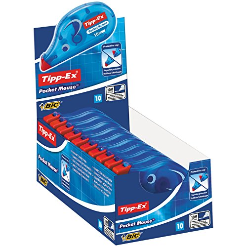 Tipp-Ex Pocket Mouse Corrective Tape - 10 mx 4,2 mm, Box of 10 units