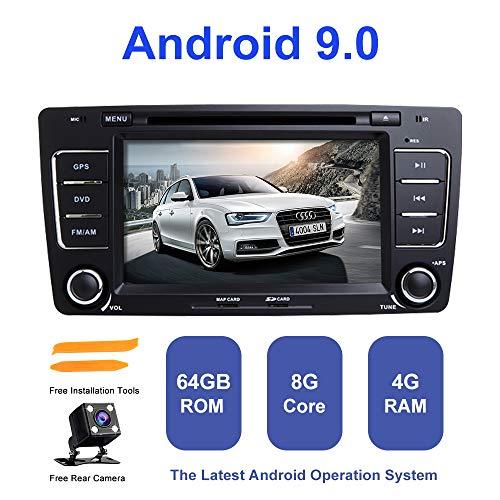 Android Autoradio Stereo, ZLTOOPAI für Skoda Octavia 2009-2013 Yeti 2008-2014 Double Din Head Einheit Android 9.0 Octa Core 4G RAM 64G ROM 7 Zoll Kapazitiver Digital Bildschirm Auto Stereo GPS Radio 2009 Stereo