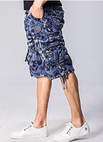 Tonwhar Cargo Shorts, Camouflage, Herren Blau - Blau