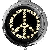 "metALUm - Extragroße Pillendose in runder Form""Peace Symbol"" preisvergleich bei billige-tabletten.eu"