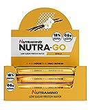 Nutramino Low Sugar Protein Waffel mit Vanille Geschmack und Eiweiß, 12 Stück