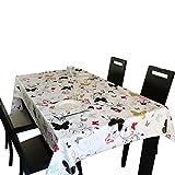 Kabeier Tischdecke, PVC Wasserdicht und ölbeständig Tischdecke, Hotel-Restaurant Café Gartentisch (200 x 137 cm)