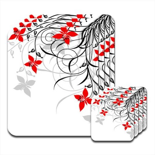 natural-simplicity-red-black-set-of-4-placemat-coasters
